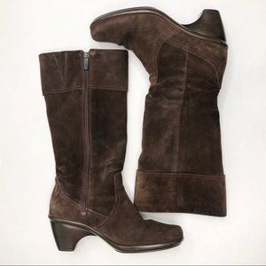 Dansko Brown Suede Leather Tall Boots